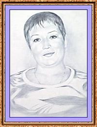 женский портрет по фото в технике сухая кисть(футболка)