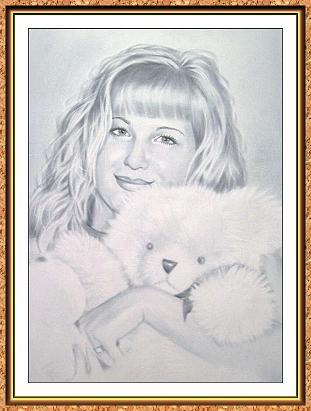 """портрет черно-белый с фотографии в технике""""сухая кисть(блондинки,куклы пушистые,медведи)"""