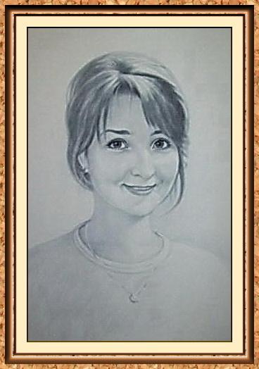 """портрет девушки по фотографии в технике""""сухая кисть""""(медальон,кулон,цепочка)"""