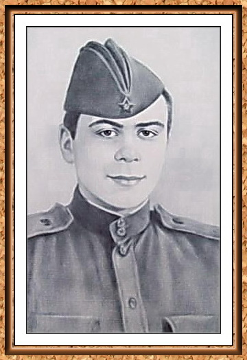 """портрет черно-белый с фотографии в технике""""сухая кисть""""в рамке(солдат,пилотка,гимнастерка)"""