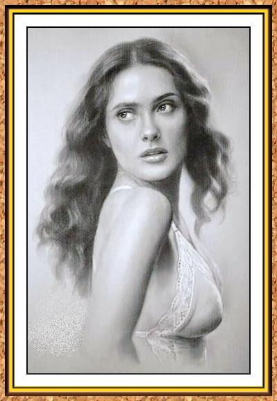 портрет знаменитости черно-белый