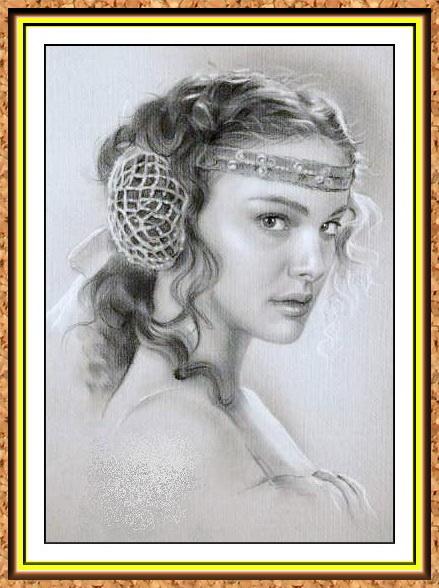 портрет знаменитости черно-белый с фото(украшения,прическа)