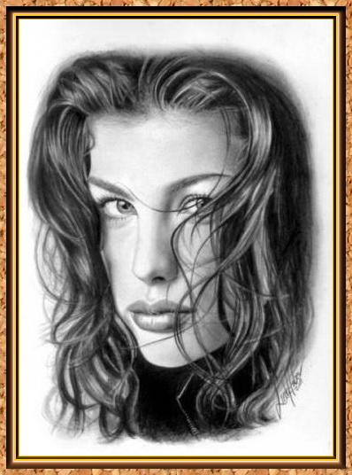 портрет знаменитости черно-белый(рамки)