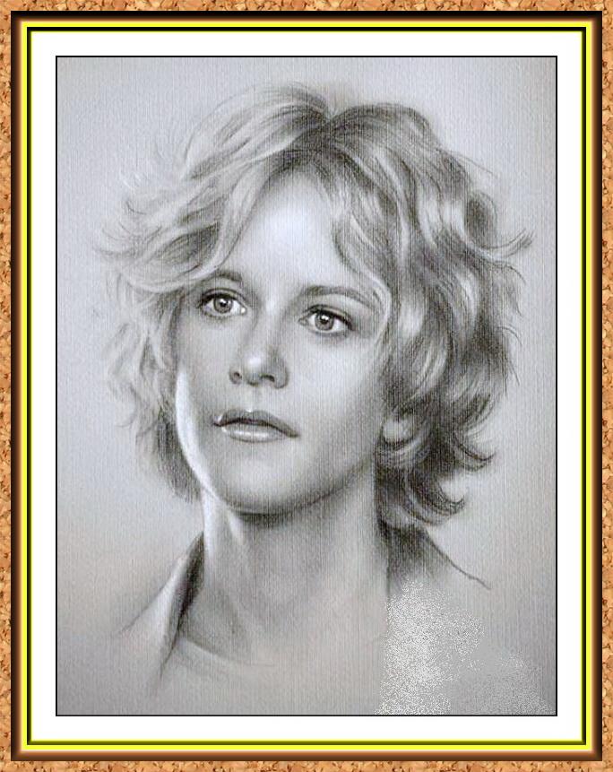 портрет знаменитости черно-белый по фото